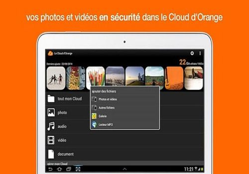 cloud orange mobile