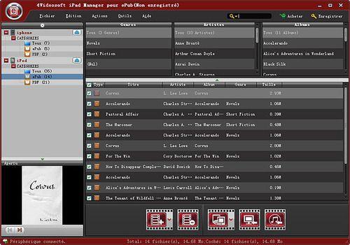 4Videosoft iPad Manager pour ePub