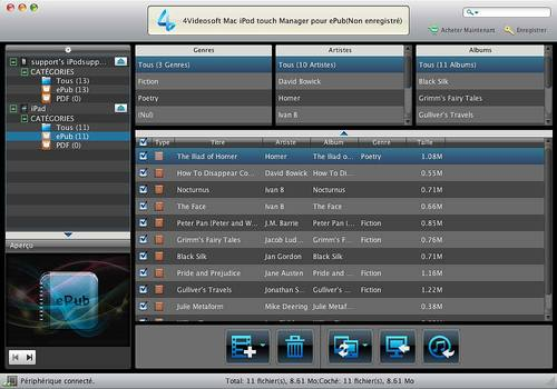 4Videosoft Mac iPod touch Manager ePub