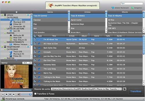 AnyMP4 Transfert iPhone-Mac pour Mac