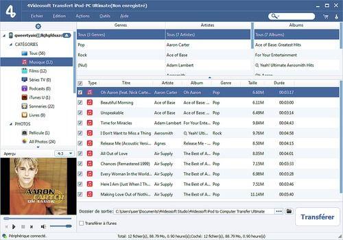 4Videosoft Transfert iPod-PC Ultimate