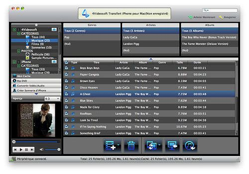 4Videosoft Transfert iPhone pour Mac