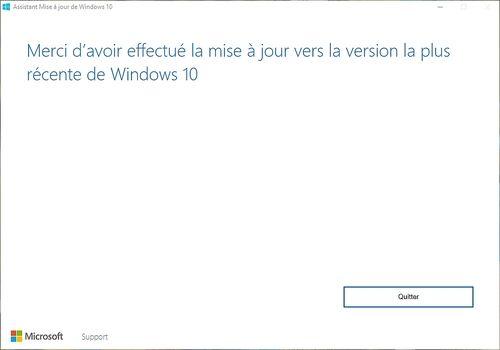 Assistant Mise à niveau de Windows 10