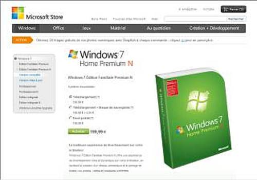 Windows 7 Édition Familiale Premium N