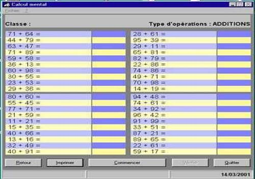 T l charger calcul mental pour windows freeware - Calcul mental table de multiplication ...