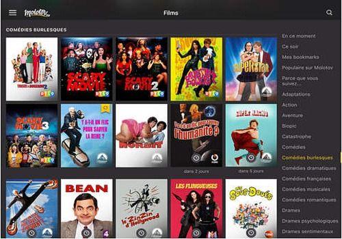 Molotov : l'app pour regarder la télé iOS