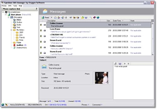 Symbian SMS Manager