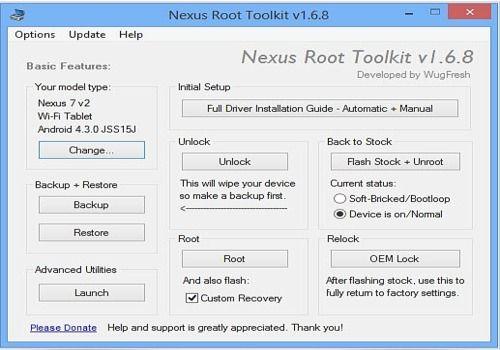 Nexus Rooting Toolkit
