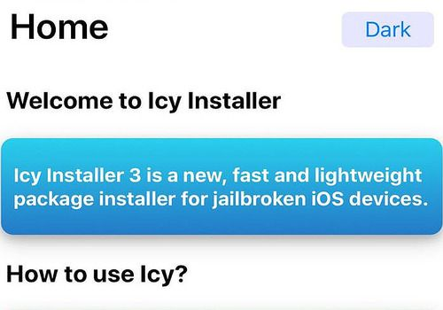 Icy Installer iOS