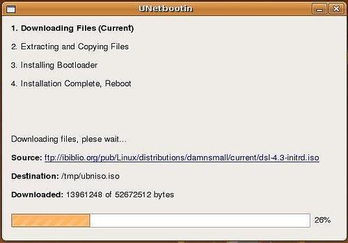 UNetbootin pour Linux