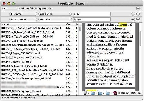 PageZephyr Search pour Mac