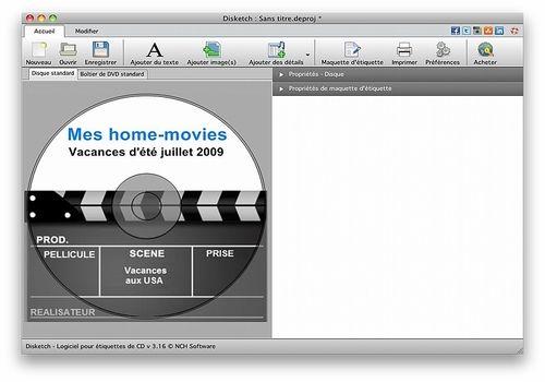 Télécharger Disketch - Logiciel d'étiquettes de CD pour Mac 4.04   Freeware