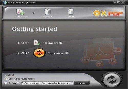 OX PDF en Fax Convertisseur