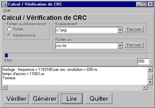CRC vérification de CD