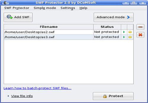 SWF Protector pour Linux