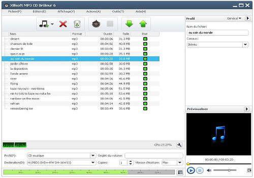 Xilisoft MP3 CD Brûleur