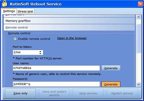 Reboot Service