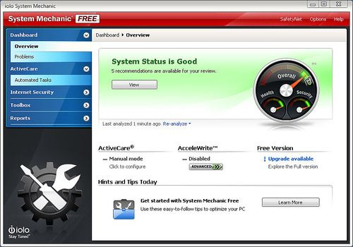 System Mechanic Free 16.5.1.27