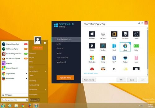 Start Menu 8 pour Windows