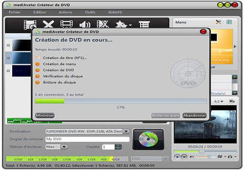 mediAvatar Créateur de DVD