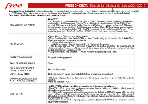 Freebox Delta - Brochure Tarifaire PDF