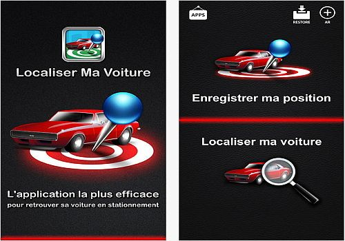 t l charger localiser ma voiture ios app store. Black Bedroom Furniture Sets. Home Design Ideas