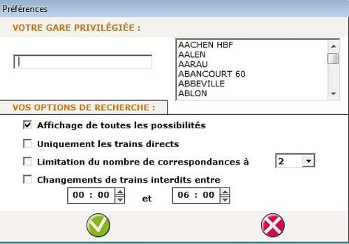 Les horaires de train SNCF pour Mac