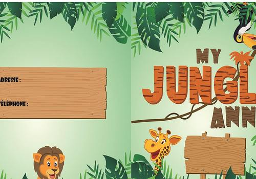 Carte d'invitation Anniversaire Jungle