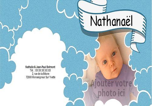 t u00e9l u00e9charger faire part de naissance word gratuit nuages 20