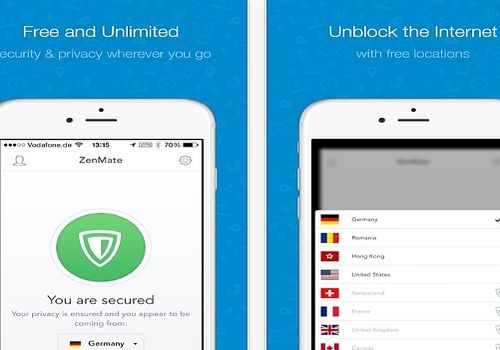 Zenmate Security and Privacy iOS