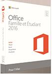 Office 2016 Famille et Étudiant - MAC