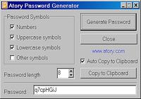 Atory Password Generator