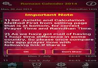 Ramdhan 2014 et Prayertime