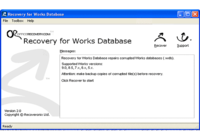 Recovery for Works Database