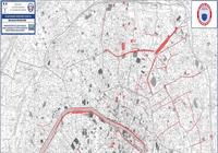Carte de Paris où le masque est obligatoire