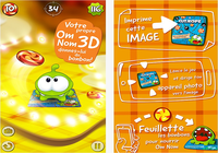 Om Nom : Candy Flick iOS
