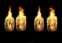 Burning Clock Screensaver