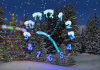 3D Christmas Clock Screensaver