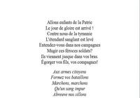 Paroles de la Marseillaise Word