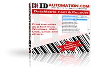 DataMatrix ECC200 Font and Encoder