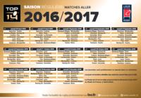 Calendrier Top 14 saison 2016-2017