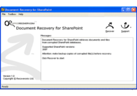 Document Recovery for SharePoint