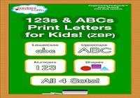 123s ABC écriture manuscrite