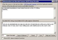 Barcode Scanner ASCII String Decoder