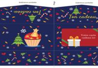 Pochette carte cadeau de Noël