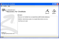 Recovery for OneNote