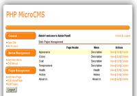 PHP MicroCMS