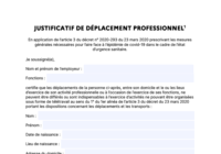Attestation déconfinement