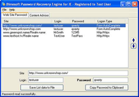 Password Recovery Engine for Internet Explorer