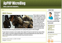 ApPHP MicroBlog - web blog PHP script